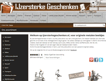 Tablet Preview of ijzersterkegeschenken.nl